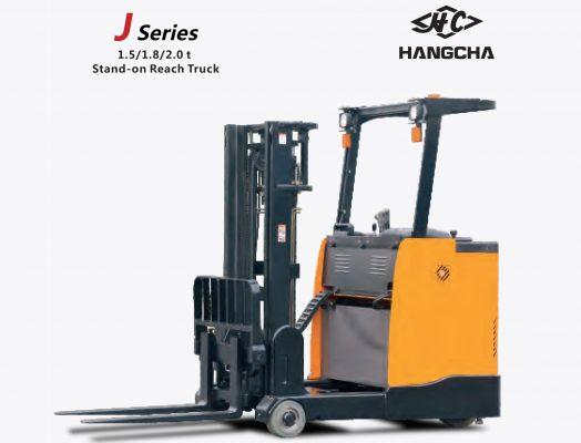 Xe nâng reach truck đứng lái J series 1.6 tấn
